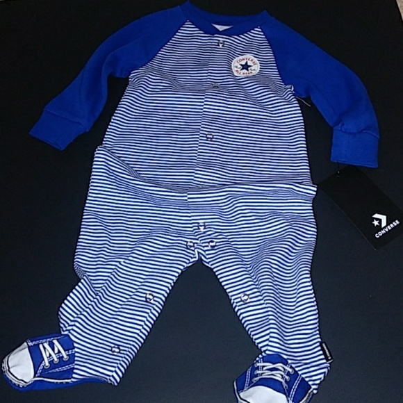 Converse Other - SOLD Converse logo footed sleeper 6m NWT